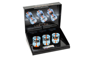 Scalextric C3896a Ford Gt40 1968 Gulf Pack triple édition limitée 5055286645020