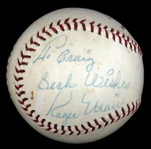 1960-039-s-Roger-Maris-Single-Signed-Autographed-Baseball-With-JSA-Certificate-COA