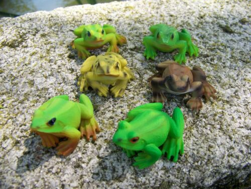 68166  FIGURINE   STATUETTE  SIX GRENOUILLE  ANIMAL  DECO JARDIN  PROMO 20 /%