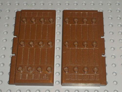 Satz 3053 6093 6083 7417 LEGO Bausteine & Bauzubehör LEGO Bau- & Konstruktionsspielzeug 2 Stück Anhänger braunhaarig LEGO oldbrown Tür 30223