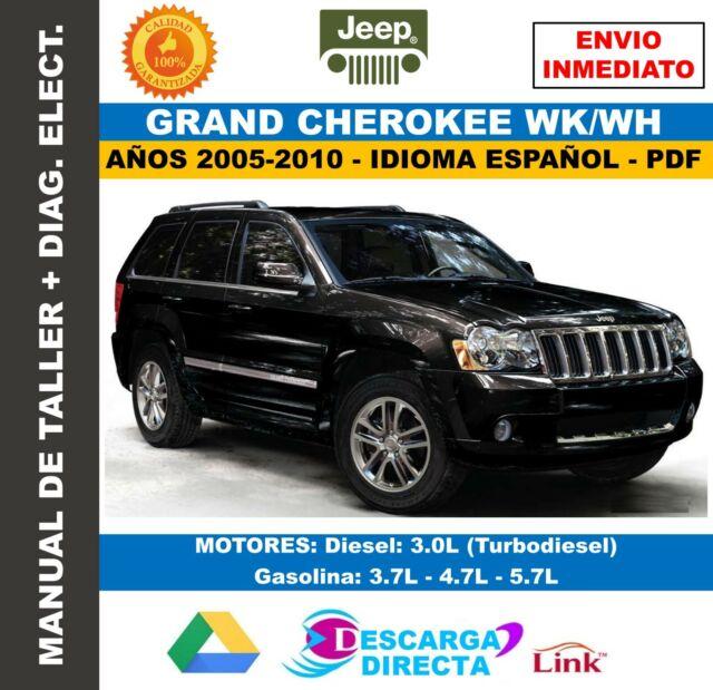 Manual De Taller Jeep Grand Cherokee WK 2005-2010 Español + Diagramas Eléctricos