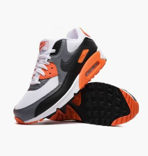 NIKE AIR MAX Weiß/Anthracite-Cool 90 ESSENTIAL  537384-128 Weiß/Anthracite-Cool MAX Grau-Bl Damen Herren 1ff817