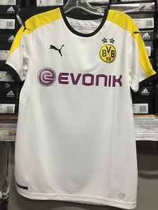 Puma Bvb Borrusia Dortmund Third Jersey White Yellow Black Size Small Only Ebay