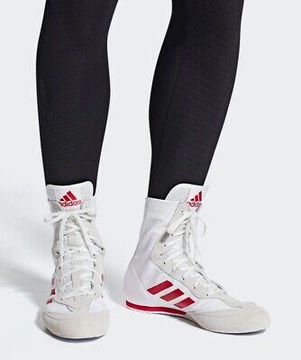 Adidas Box Hog X Special Men/'s Boxing Shoes White//Red SZ AC7148