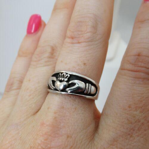 925 Sterling Silver Love Loyalty Friendship Unisex NEW Irish Claddagh Ring