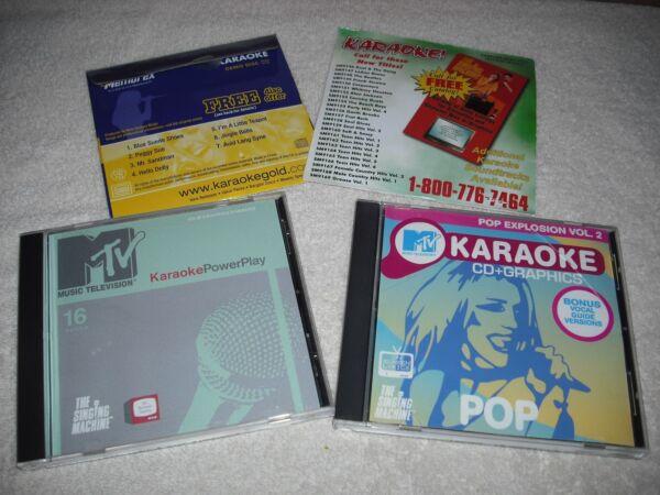 2 Mtv Karaoke Cd's W/2 Bonus Sampler Cd's Included Helder En Doorschijnend Qua Uiterlijk