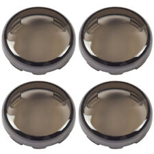 4x Smoked Turn Signal Light Lens Covers Fit for Harley Davidson Electra Glide