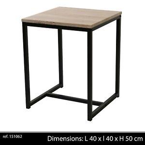 table basse d appoint style industriel bois et metal. Black Bedroom Furniture Sets. Home Design Ideas