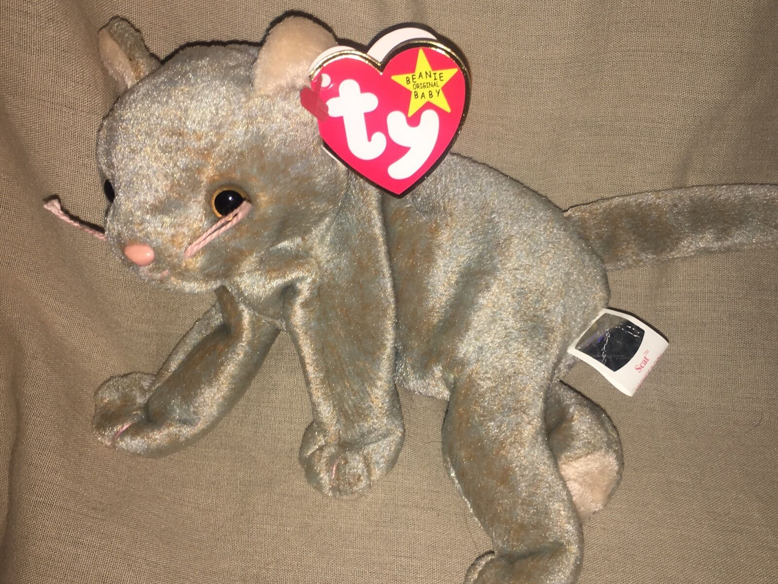 Rare Scat The Cat Ty Beanie Baby