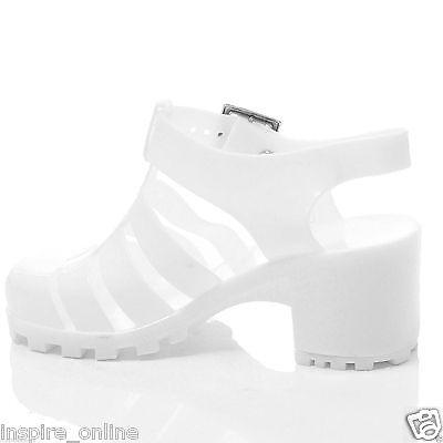 Niñas Niños Grueso bloque talón Jelly Sandalias Verano Playa Retro Zapatos Con Tiras