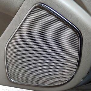 4pcs Stainless steel door speaker sound rings for Hyundai Santa Fe 2nd 2007-2012