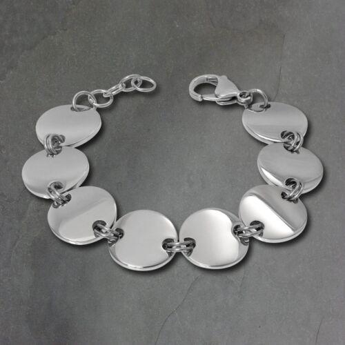 Amello Bracelet Femme Cercle Acier Inoxydable Argent Bijoux ESAS70J