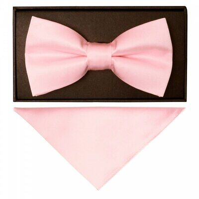 Cravatte R Us Pianura Blush Rosa Fatto A Mano Da Uomo Papillon E Fazzoletto Da Taschino Set-mostra Il Titolo Originale Conveniente Da Cucinare