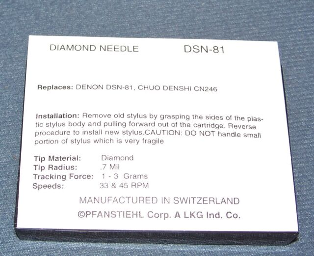 NEW IN BOX TURNTABLE STYLUS NEEDLE FOR DSN-81 DSN81 FOR Kenwood N77 N-77