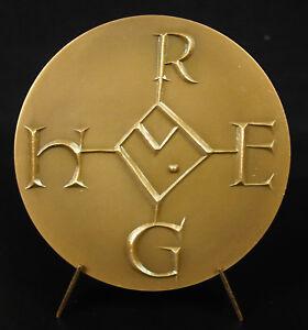 Medal-Hugo-Rex-Monogram-Dit-D-039-Hugues-Capet-King-of-Francs-Maurice-Pouzet