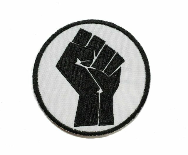 Sew on Patch Rooting for Everybody Black Sew-on Patch BLM Patch
