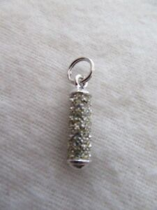 "Clear Crystal Zipper Pull  15//16/"" John Knit Silver NWOT St"