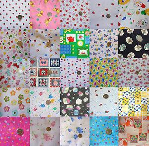 CHILDREN-strawberry-HEARTS-flower-BUTTERFLY-teddy-PRINT-various-FABRICS