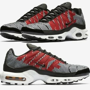 ac129c7352c39 Nike Air Max Plus Tn SE STRIPED Black White Men s Shoes Premium ...