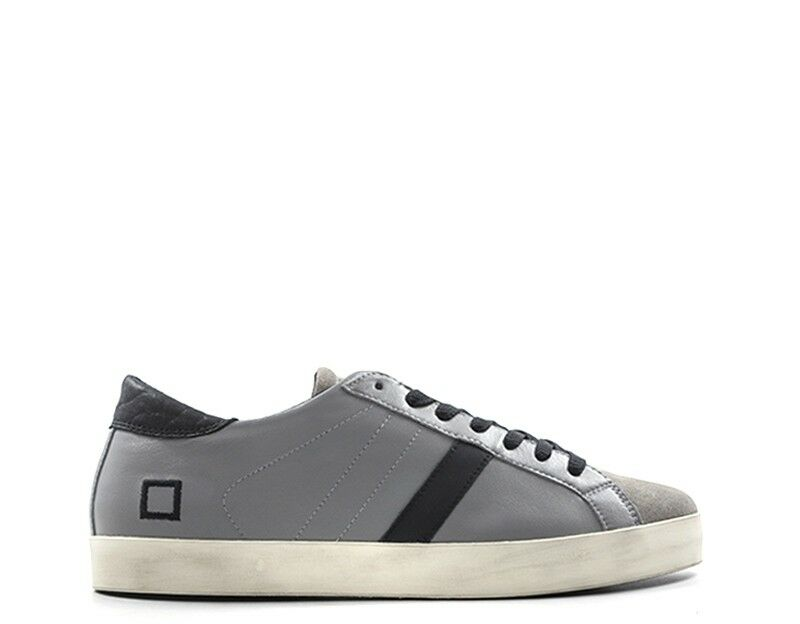 Scarpe D.A.T.E. Grigio Man Leather naturale, Suede  a251 -hl -na -gy  Ultimo 2018