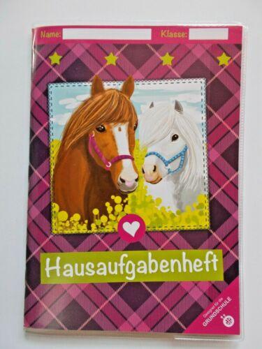 Auswahl Hausaufgabenheft Grundschule A5 ; Mutti-//Vatiheft A6 Einhorn Pferd Truck