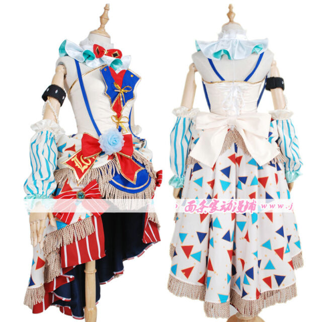 Love Live Lovelive Eli Ayase Ellie SR Circus Troup Cosplay Costume Dress Outfit