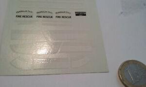 decals decalcomanie deco pour pompier etc filet jaune 1//43 et plus