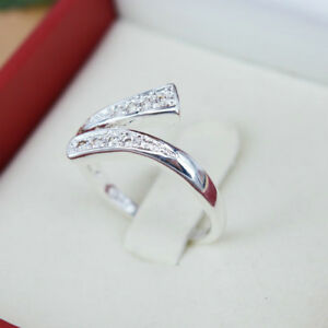Women-039-s-925-Silver-Plated-Rings-Finger-Band-Adjustable-Ring-Hot-Sale-Jewelry