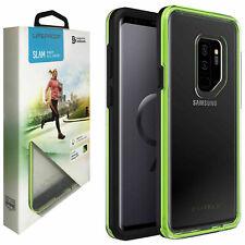Noche Flash Negro Verde LifeProof Slam caso difícil para Samsung Galaxy S9+ Plus