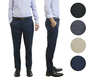 89d42a425 Mens Belted Slim Fit Dress Pants Flat Front Multiple Colors Mens ...