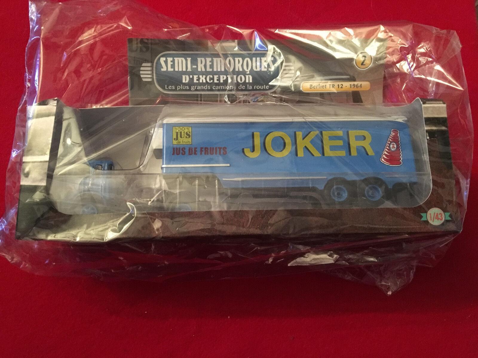 Lot de 2 Berliet TR12 (1964) Joker 1 43 Altaya