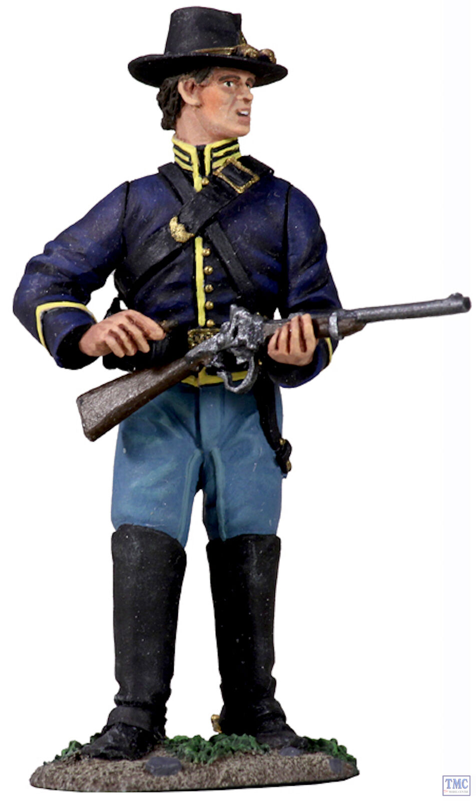 B31216 W.Britain Union Cavalry Trooper Dismounted Standing Loading No.1