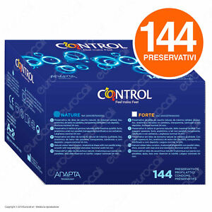 144 Preservativi Control Nature Classici Profilattici in Lattice Condom Adapta