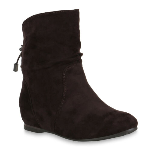 Damen Stiefeletten Keilstiefeletten Wedges Schuhe 891949 Trendy