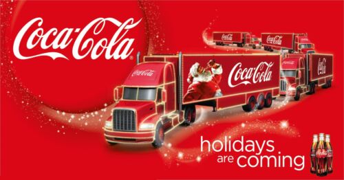 Largest on  168cm x 86cm Coke Cola Christmas Truck Giant 1 Piece Poster