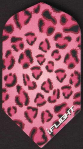 3 per set Pink Leopard Pattern Slim Dart Flights