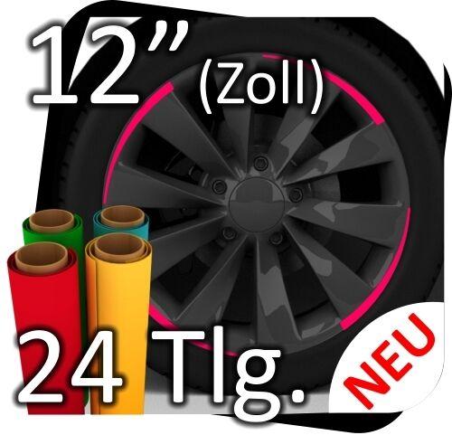 """12/"""" Felgenaufkleber Felgen Aufkleber Motorsport Felgenrandaufkleber 24tlg No 6"""
