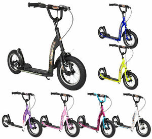 "BIKESTAR Push Kick City Scooter Big Wheel Kids Boys Girls 7+ years | 12"" Sport"