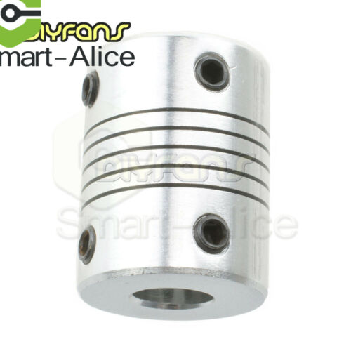 Flexible Shaft Coupling CNC Stepper Motor Connector 5//6.35//8//10//12mm B2SA