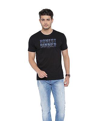 Cult Fiction men's Black Color Round Neck Cotton T-Shirt (CFM01BL911)