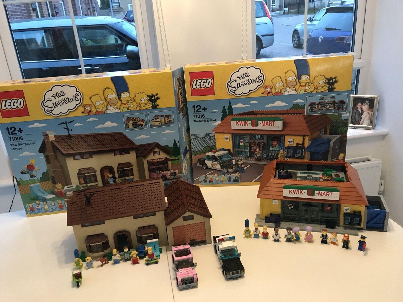 Los Simpsons Lego House y Kiwk E Mart