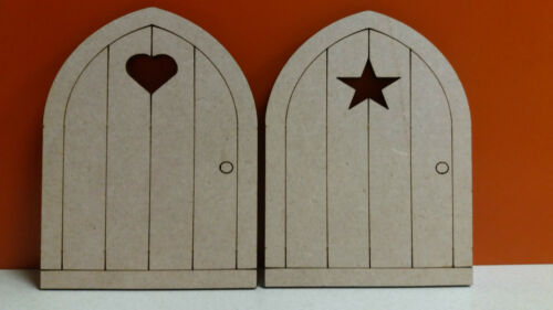 Mdf Wooden Fairy Door 10.7cm x 8cm 4mm multi listing