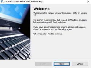 Alesis HR16 Bin file Creator Software, Alesis HR16, Hr16B, Drum Machine Software
