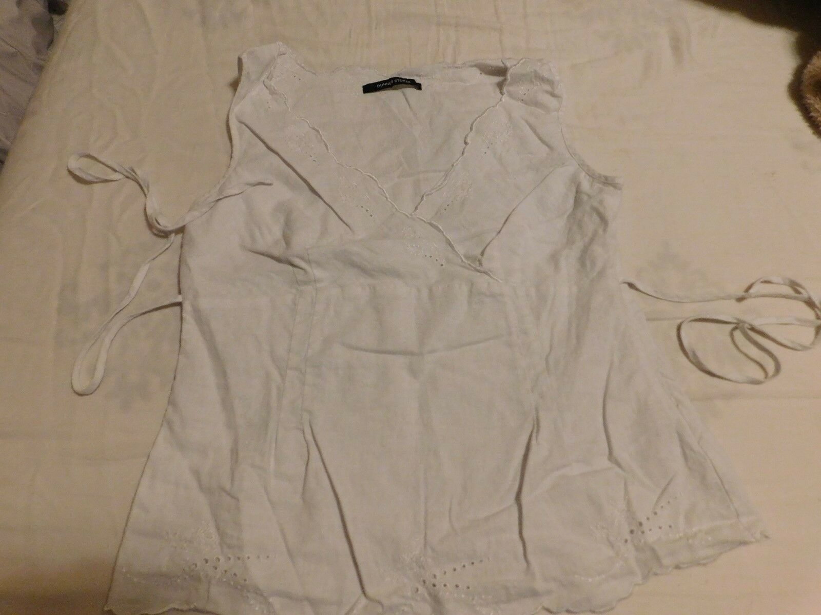 DUNNES STORES WHITE LINEN TOP SIZE UK 12 - image 5