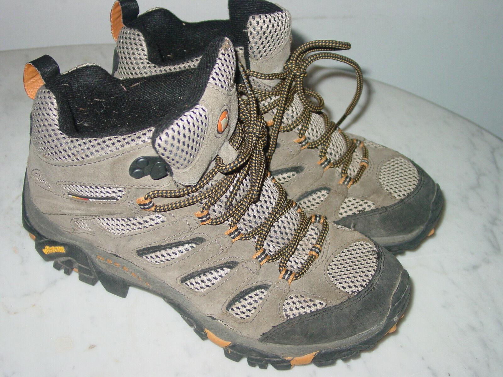 Merrell Moab Ventilator Nogal J86593 Mid Trail Hiking tamaño del zapato 7.5