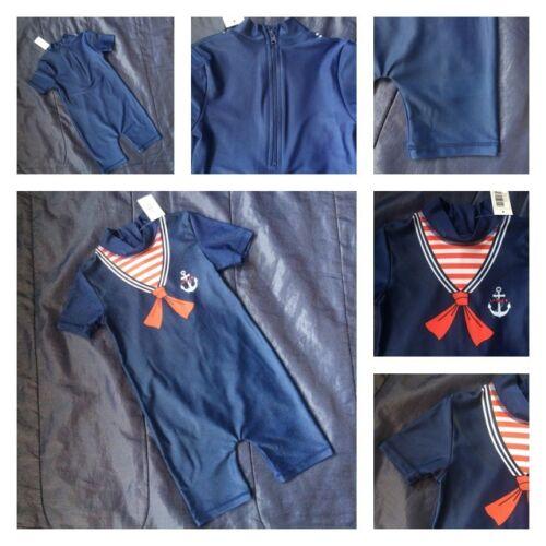 Sailor Boys Character Swimsuit Swimwear Swimming Costume Sunsuit Kids Suit