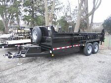 "BRAND NEW 2018 83"" X 16' DUMP TRAILER 14,000# G.V.W.R. RAMPS D-RINGS, 3 WAY GATE"