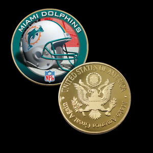 New-American-NFL-Coin-Holder-for-Necklace-Coins-Collectibles-MIAMI-DOLPHINS