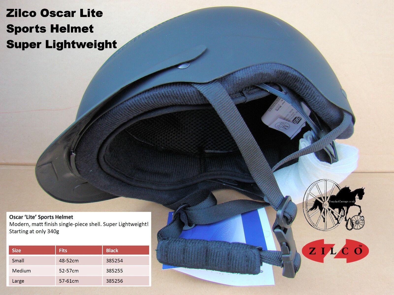 Zilco Oscar Lite Carriage Driving Helmet Hat Riding Very light 340g