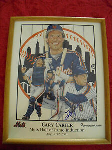 GARY-CARTER-NEW-YORK-METS-HALL-OF-FAME-INDUCTION-AUTOGRAPHED-FRAMED-PHOTO